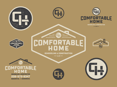 Comfortable Home idaho boise monogram branding house home texture typography builder remodeling construction