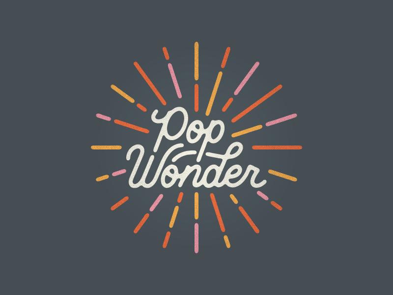 Pop Wonder type custom monoline fireworks summer wonder pop