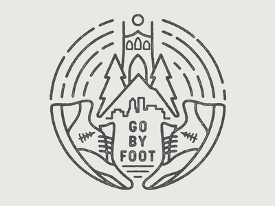 Go By Foot mt. hood running shoe shoe foot go running stumptown trees badge oregon portland