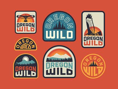 Oregon Wild tree bird badge patch explore wild oregon