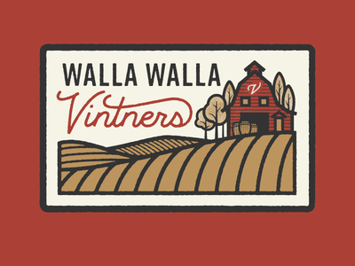 Walla Walla Vintners walla walla washington field barn farm badge patch vintners vineyard wine