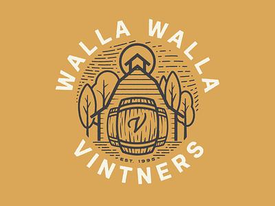 Walla Walla Vintners 2 walla walla washington field barn farm badge patch vintners vineyard wine