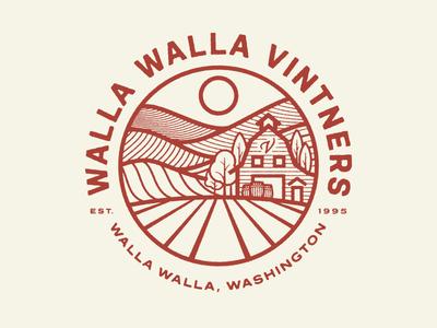 Walla Walla Vintners 3 walla walla washington field barn farm badge patch vintners vineyard wine