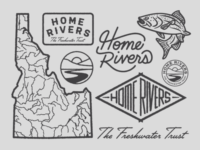 Home Rivers Idaho home rivers patch fish badge rivers river trout idaho