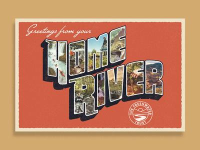 Home River Postcard