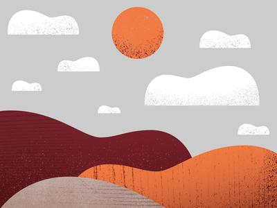 Walla Walla Poster vineyard winery wine sun texture guitar guitars clouds barn farm poster design poster