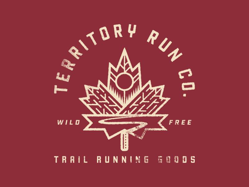 Territory Autumn Trails illustration oregon texture trail running fall leaf run trail