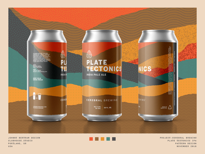 Plate Tectonics craft beer mockup can ipa texture pattern beer packaging beer can beer