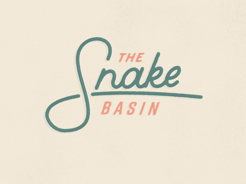 The Snake Basin snake river fisherman fish headline type basin script monoline river idaho