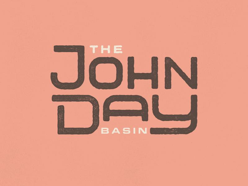 The John Day headline custom type custom typography type fisherman fishing fish oregon fresh water river the john day