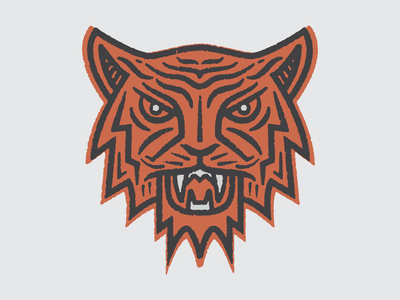 Tiger Claw illustration running texture trail patch run tiger