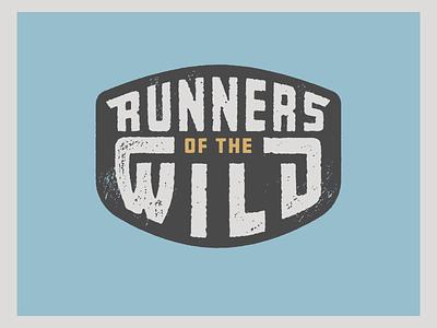 Runners of the Wild vector explore custom type portland oregon running texture patch trail run badge