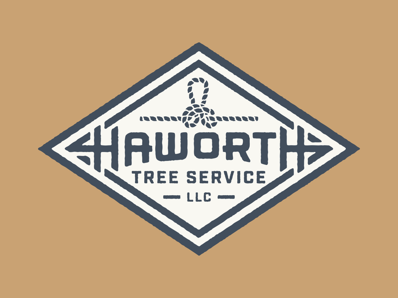 Haworth Tree Service portland type vector illustration texture oregon tree service rope tree badge logo