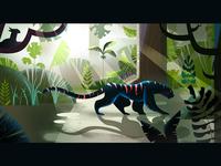 Puma in the rainforest