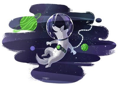Space doggie