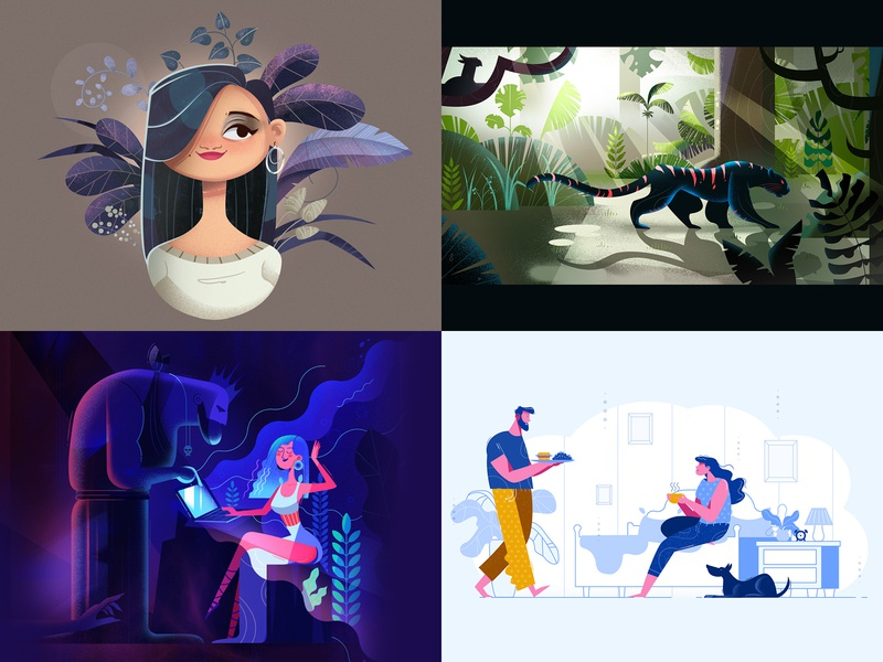 2018 Top 4 Shots animation colorful 2018 trends illustration top4shots summary 2018summary