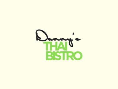 Danny's Thai Bistro restaurant identity branding logo