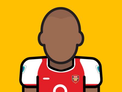 Minimal Football 2.0 - Theirry Henry minimal premier league soccer henry arsenal football illustration