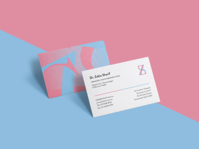 Dr Sharif Business Cards doctor medical stationary business cards print identity logo branding