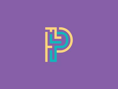 Puzzle Pictures Logo maze p puzzle identity branding logo
