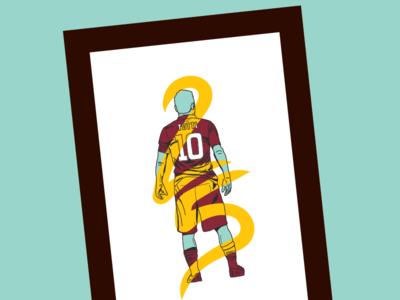 Francesco Totti - Re di Roma italy rome roma soccer totti football print illustration