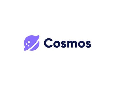 Cosmos purple space star cosmos logotype figma mark brand identity concept exploration branding brand logo