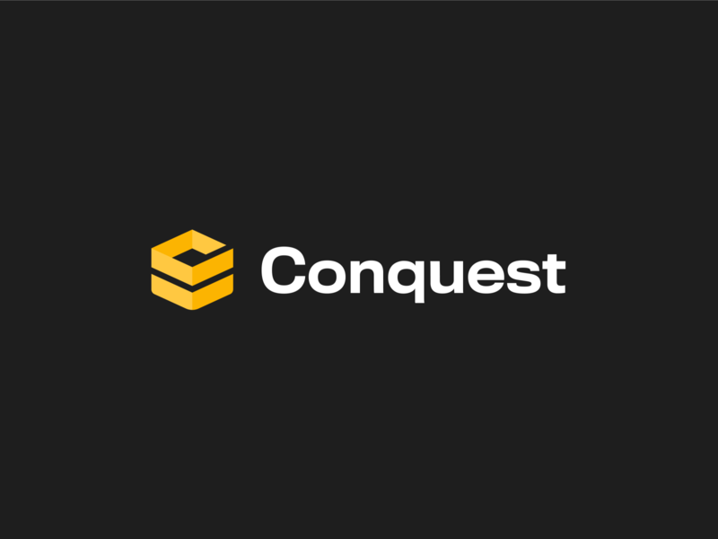 Conquest Shipping 📦 minimal branding c logo box logotype figma icon app shipping conquest mockup brand identity branding brand logo