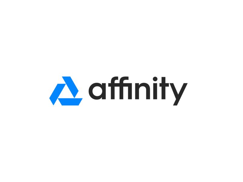 Affinity minimal branding isometric triangle delta clean affinity figma exploration brand identity branding brand logo redesign