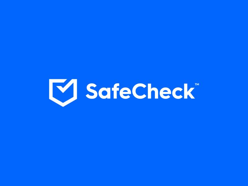 SafeCheck Revised blue shield check minimal branding figma logotype mark exploration brand identity concept branding brand logo