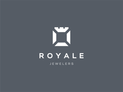Royale Jewelers grey royale jewelry diamond logotype mark minimal figma brand identity branding brand logo