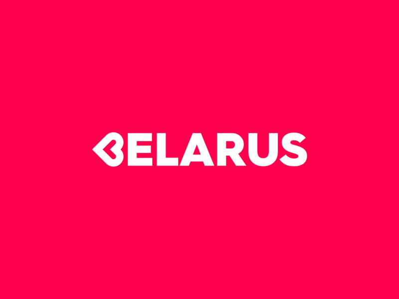 Pray for Belarus ❤️ logotype minimal love heart pray figma branding brand belarus exploration logo