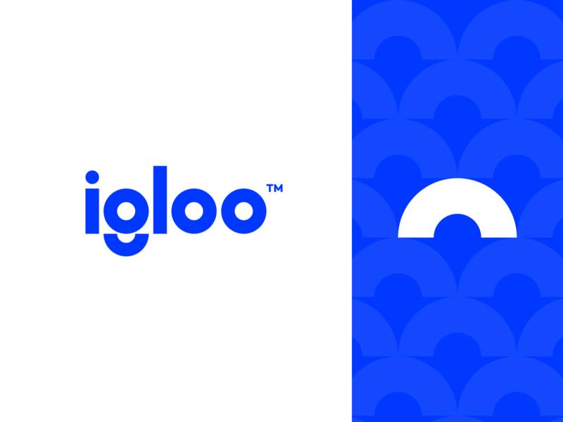Igloo 🧊 minimal branding logotype ac services blue igloo figma minimal exploration brand identity branding brand logo