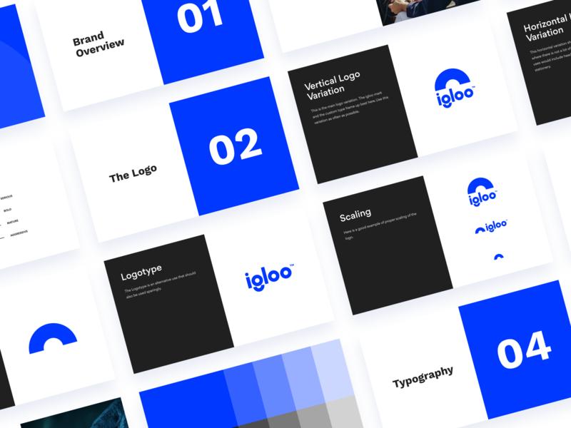 Igloo Guidelines igloo mark typography product design figma logotype minimal exploration brand identity branding brand logo