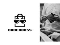 orderboss sunglasses glasses order management food order figma logotype minimal exploration brand identity branding brand logo
