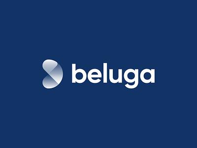 Beluga ocean tail beluga whale minimal branding logotype figma concept exploration brand identity branding brand logo