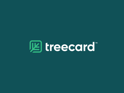 TreeCard Logo Concept eco green finance card tree mark logotype figma brand identity exploration branding brand logo