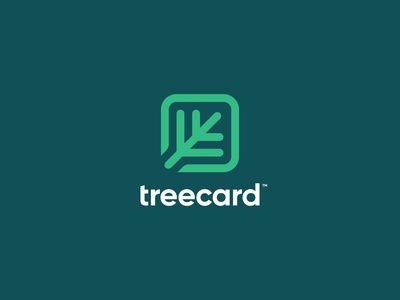 TreeCard Logo Concept eco green finance card tree mark logotype figma brand identity exploration branding brand logo