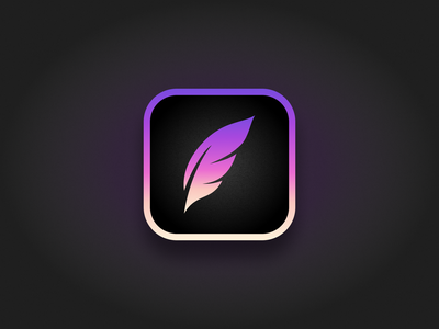 Procreate App Icon Redesign logo feather figma icon app concept dribbble playoff redesign procreate