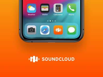 SoundCloud Logo Redesign logotype figma minimal soundcloud app icon music redesign exploration branding brand logo