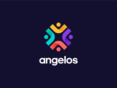 Angelos Logo stained glass church angelos icon app community figma branding brand logo
