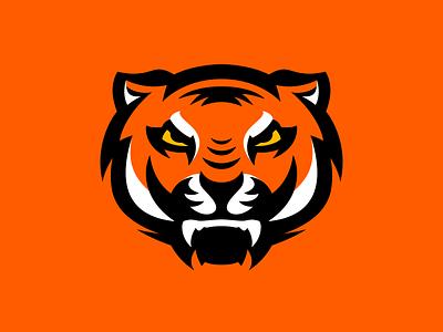 Big Angry Tiger exploration brand orange angry component figma branding tiger mascot logo