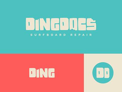 DingDocs - Land & Brand Episode 9 minimal brand identity figma retro vibrant hawaii clean unfold exploration branding brand logo