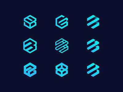Boxiz Logo Concepts app store sports marketplace mark icon product app game boxiz figma minimal brand identity exploration branding brand logo