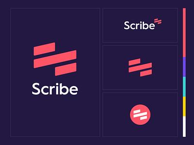 Scribe mark clean minimal brand identity figma product extension chrome tool scribe branding brand logo