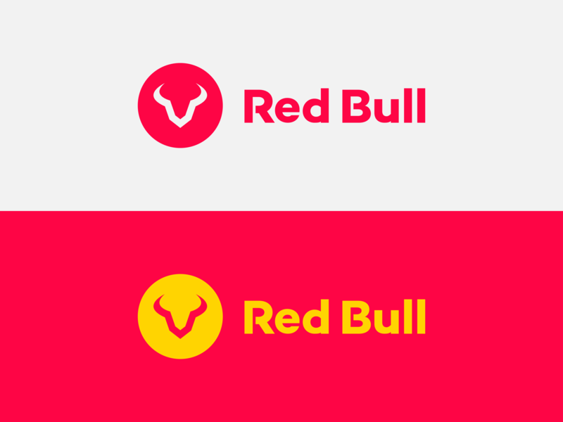 Red Bull - Redesign logotype vector exploration brand identity mark sports red bull concept simple minimal branding brand logo