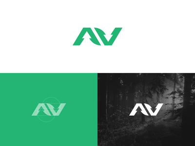 AV Forestry   Logomark forestry exploration brand identity mark concept simple minimal branding brand logo