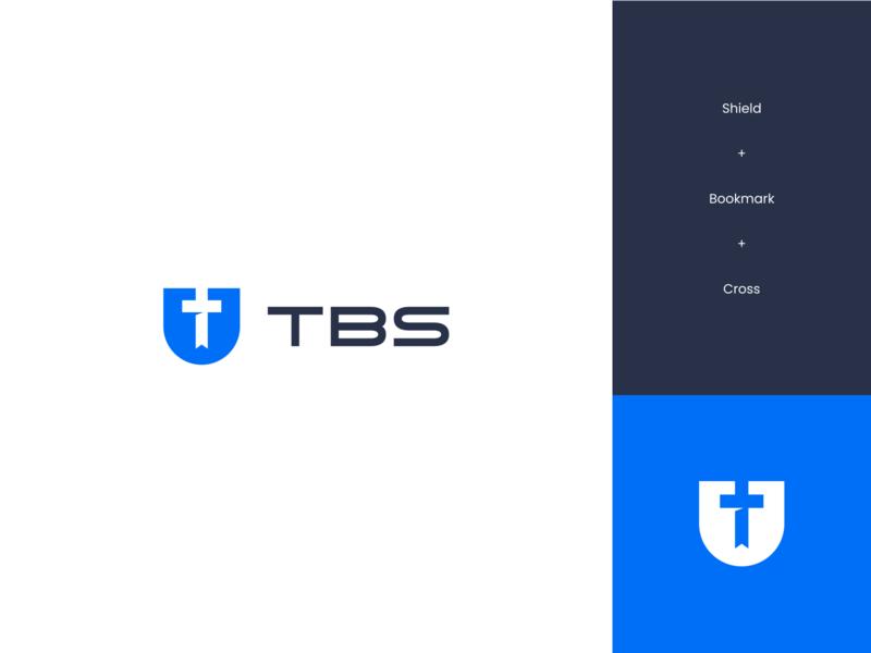 TBS Concept minimal simple jesus cross shield school bible concept exploration brand identity branding brand logo