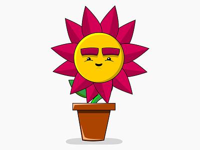 Weird Flower inkscape illustration vector green lol funny fun flower werid