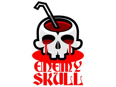 Enemy Skull horror vikings viking odin vector skull red inkscape enemy drinkingstraw drink blood