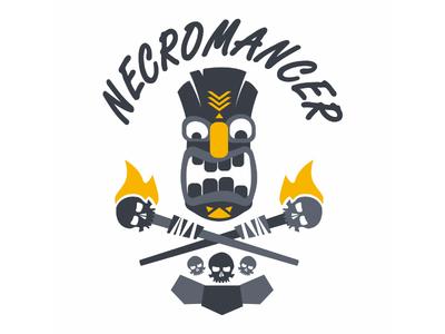 Necromancer scary head mask dungeonsanddragons burn flames skull hawaian hawai tiki